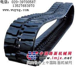 供应玉柴35挖掘机橡胶履带,玉柴35挖土机橡胶履带板