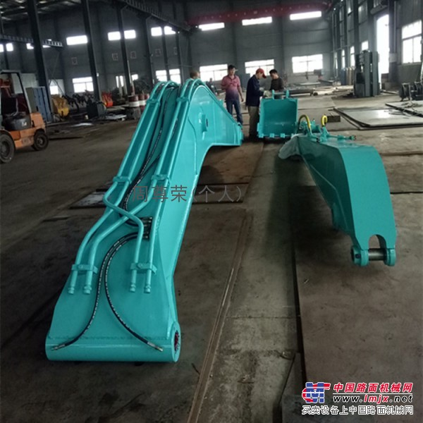湖南加长臂厂家供应神钢200 13米两节加长臂虾池清理垃圾