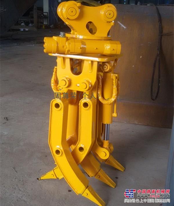 供应三一75挖掘机液压360度旋转抓木器木材装车好神手