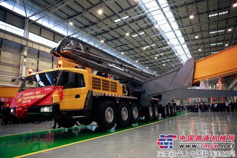 三一重工86米泵车下线2高清图片