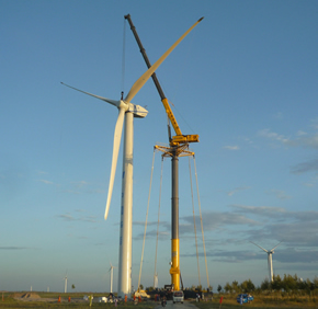 GTK1100起重机 风电场建设的最佳搭档