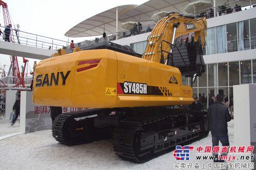 三一SY485H挖掘机-剑指矿山之巅 三一矿山型挖掘机亮相2014 bauma 图片