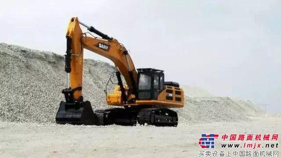 三一SY485H挖掘机宁夏石嘴山投入使用图片
