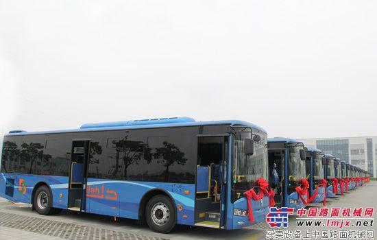 潍柴142辆亚星客车出口沙特 贴心服务如影相