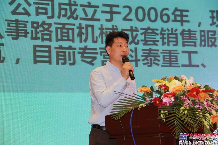 代理商新疆金力辰机电设备有限公司总经理谢华礼分享销售经验
