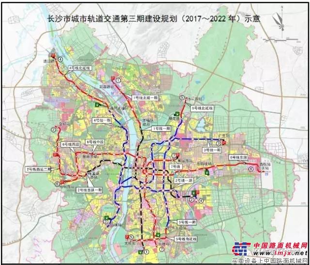 长沙轨道交通第三期建设规划(2017-2022)获批
