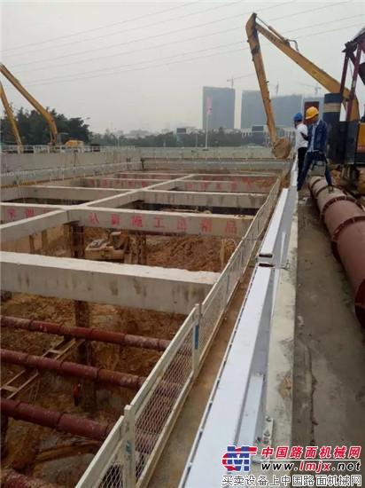 厦工挖掘机助跑厦门地铁建设