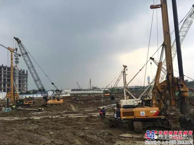 徐工旋挖钻批量助力印尼城市综合体项目