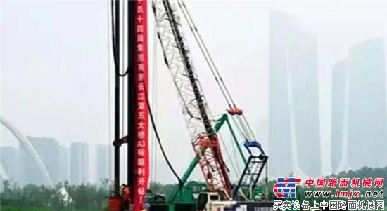 中铁十四局围护结构第一钻开始作业,拉开了该标段建设的序幕.