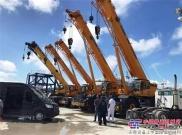 牛!5台来自中国品牌的越野轮胎起重机助力世界最大的船舶维修港!