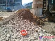 上海金泰SZ80-35瓯江河畔再施咬合桩 卵石地层成孔难题迎刃而解