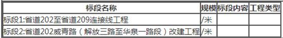 省道202至省道209连接线工程、省道202威青路(解放三路至华泉一路段)改建工程施工监理项目招标公告