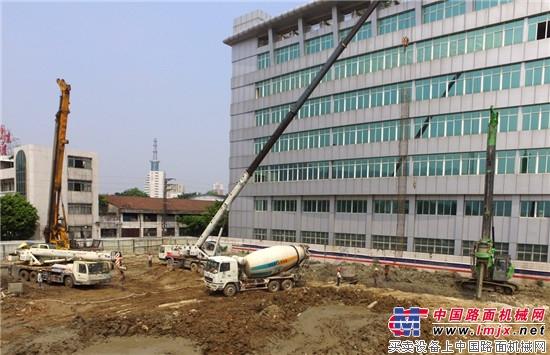 泰信机械KR125小型旋挖钻机高效施工显优势深得客户青睐
