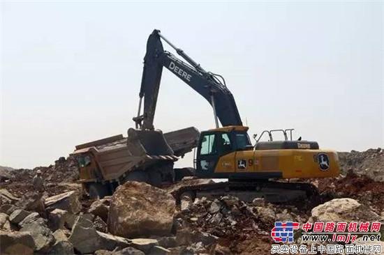 冀东水泥用户对约翰迪尔E360LC的采矿表现有话说