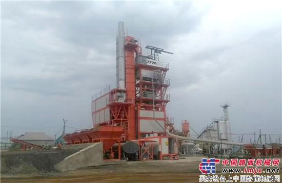 铁拓机械沥青搅拌设备助力俄罗斯鞑靼斯坦机场道路建设