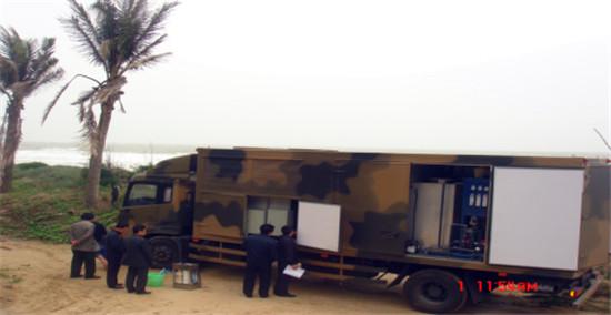 饮用水应急取制车在湛江东海岛(海边)试验照片