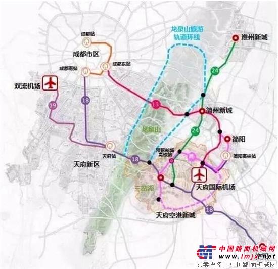 首次曝光 成都天府国际空港新城交通规划图出炉
