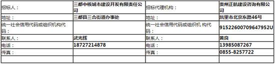 【贵州省】三都县水书大道至圣山大道连接线道路工程设计招标公告