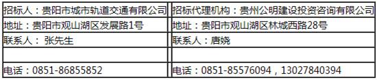 贵阳市轨道交通3号线一期工程施工图阶段设计2标招标公告