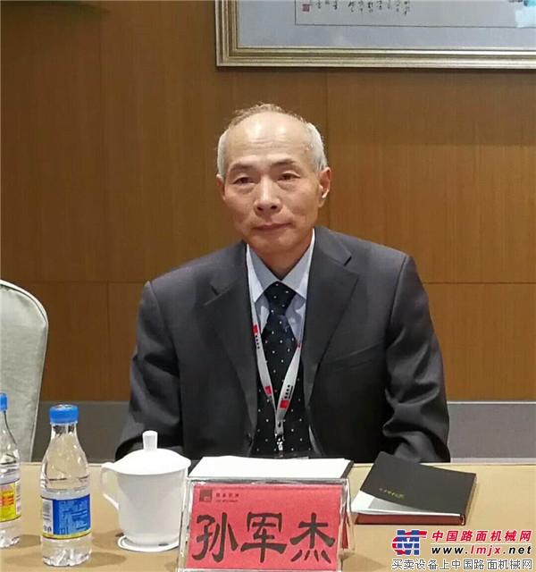 中国工程机械工业协会筑路机械分会会长孙军杰
