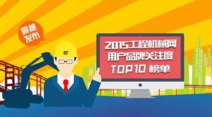 2015年中国工程机械用户品牌关注度排行榜
