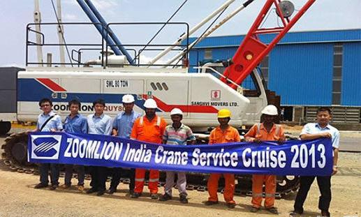 中联重科起重机在印度售后服务团队