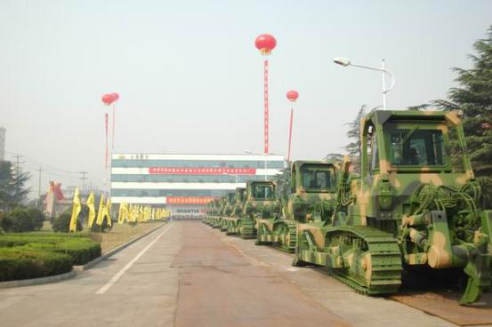 解放军总后军用推土机接装仪式在山推股份举行