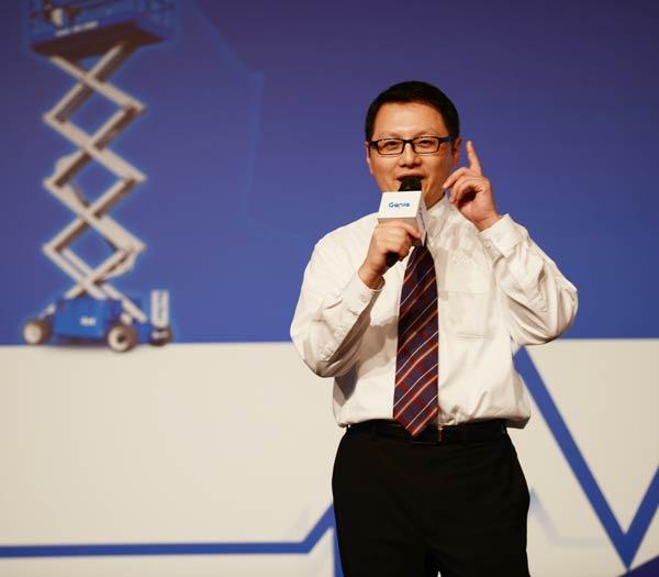 吉尼高空作业平台事业部商业管理总经理朱希明