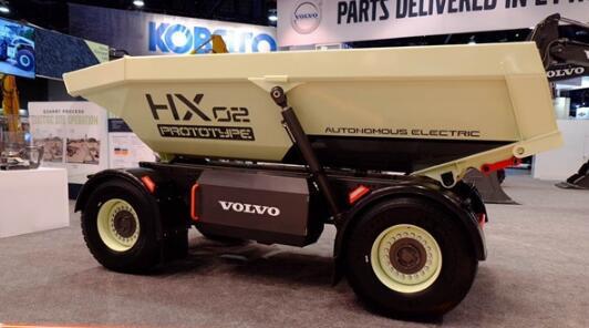 沃尔沃研发的HX2自动化装载车