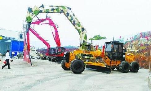 高空破拆抢险智能挖掘机和XG822i和智能装载机