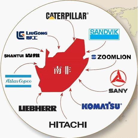 全球工程机械巨头及中国工程机械企业在南非布局