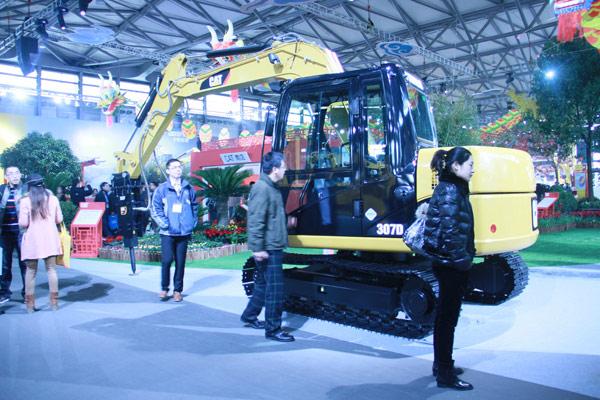 2012上海宝马展卡特彼勒展馆