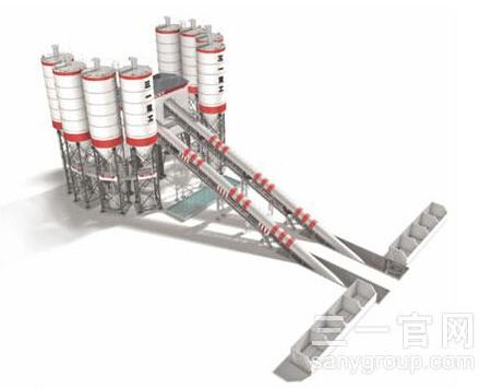 三一重工HZS360C8骨料输送斜皮带系列