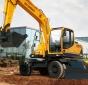 现代R150W-9轮式挖掘机