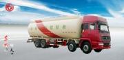 东风斯太尔四轴粉粒物料运输车散装水泥运输车