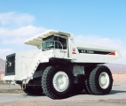 内蒙古北方股份TR100岩斗型矿用自卸车