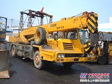 青海二手工程机械-西宁5吨徐工汽车吊10吨浦沅汽车吊新行情