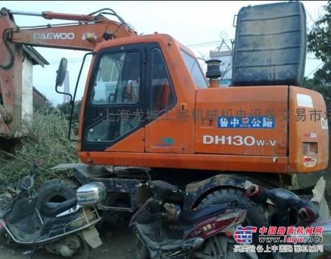 供应二手大宇130-V轮式挖掘机