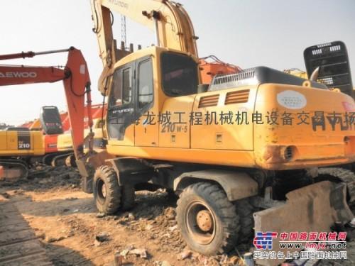 供应二手挖掘机现代210W-5轮式挖掘机