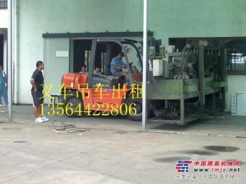 上海闵行叉车出租-堆高机出租-货物移位-8吨吊车出租