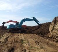 上海杨浦区挖掘机出租小松60挖掘机出租带破碎锤混凝土破碎价优