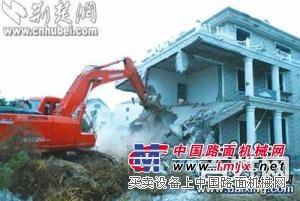 供应上海浦东区履带加长臂挖掘机出租承接房屋桥梁拆迁工程