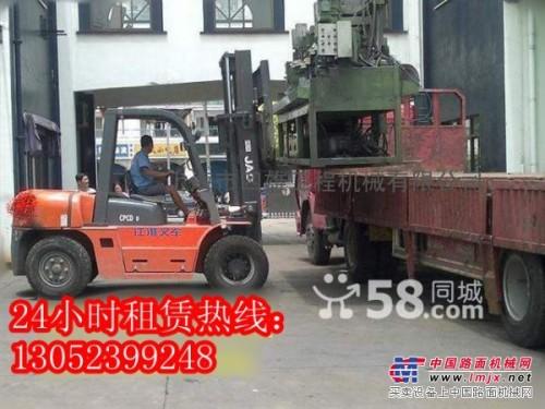 上海市宝山叉车出租-罗店吊车-堆高机租赁-平板车大件运输
