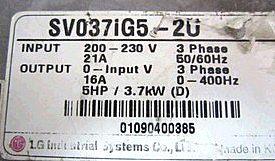 特价供应LG变频器SV037IG5-2U