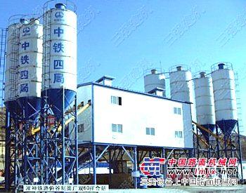 供应工程HZS60混凝土搅拌站设备