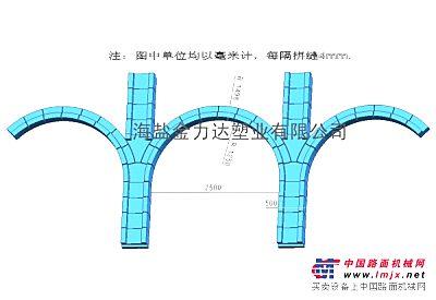 高速公路拱型骨架护坡预制块塑料模具
