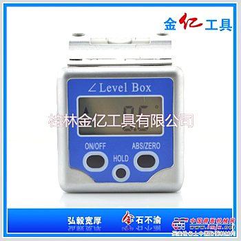 迷你铝合金高精度水泡角度盒 便携式快速测量数显水平倾角盒