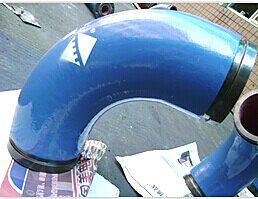 供应湖南精城耐磨陶瓷泵管弯头