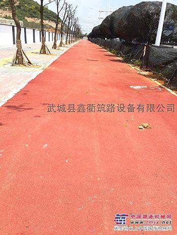 彩色沥青全国专车配、彩色沥青路面