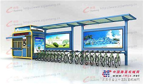 自行车棚,公交候车亭,自行车棚价格,郑州,锐珑标识